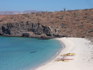 Playa Despensa near the southern tip of Espiritu Santo Island.